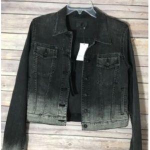 Vince Faded Denim Jacket Women size Large